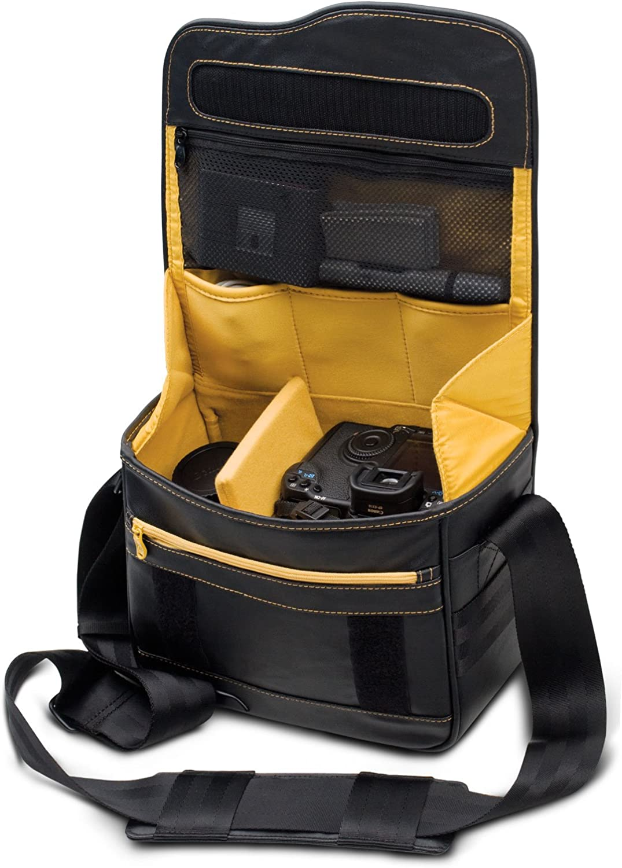 be.ez LE reporter Photo Negro Canon 60D, Nikon D7000, Olympus E-30, Negro, Amarillo Amarillo Funda
