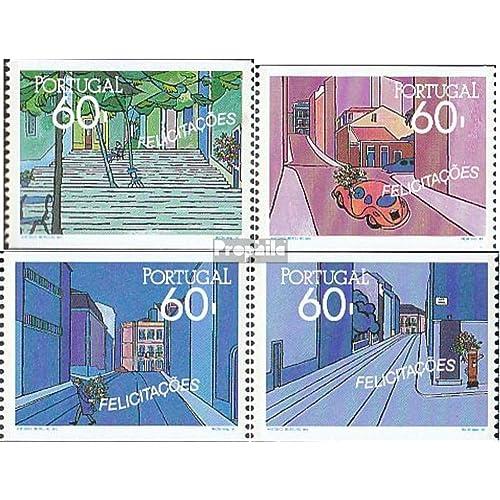 Portugal 1825C-1828C (complète.Edition.) 1990 Grußmarken (Timbres pour les collectionneurs)