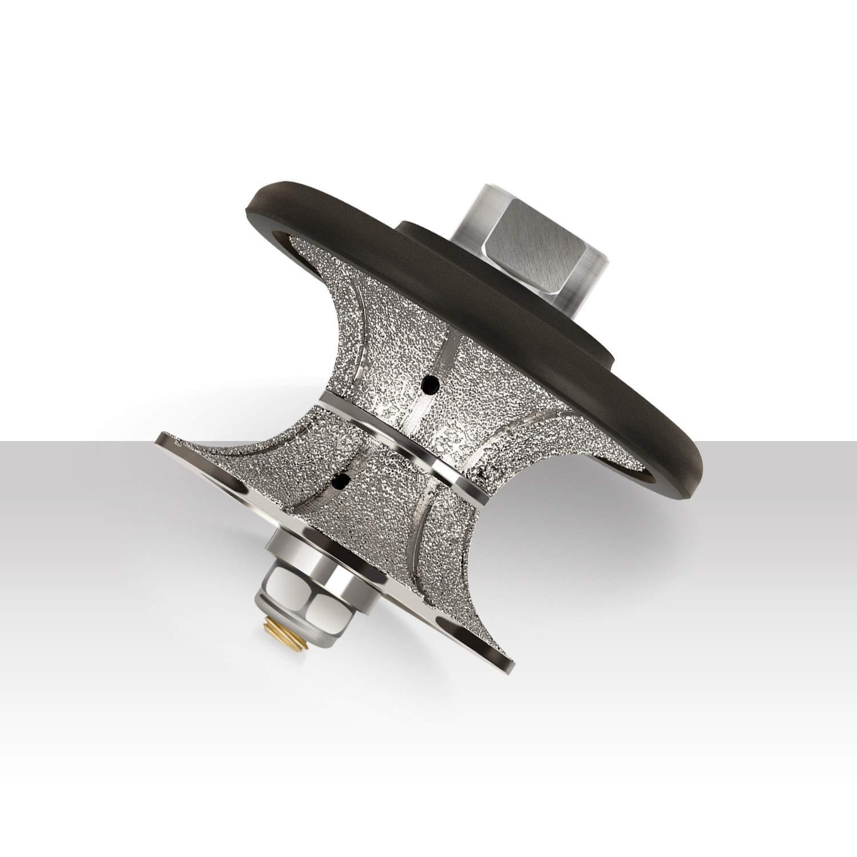 V40 ZFE V 1-1//2 V-Shape Diamond Profile Wheel//Profile Grinding Wheel Full Bullnose Diamond Hand Profiler Router Bit with 5//8-11 Thread for Wet Polisher Wet Grinder Granite Concrete Marble