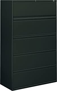 product image for HON 895LS 800 Series Five-Drawer Lateral File, Roll-Out/Posting Shelves, 42 x 67, Charcoal