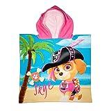 Paw Patrol Kids Hooded Poncho Towel (Pink)