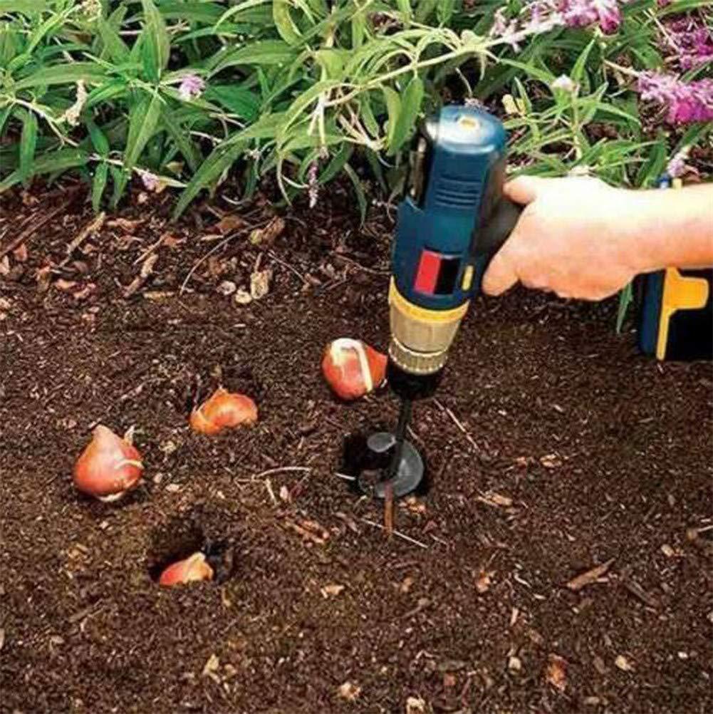DEALYU Foret /à tari/ère planteuse Rapide pour Plantes de Jardin de 3,1 x 11,8 Pouces Foret h/élico/ïdal moulu Foret h/élico/ïdal en Alliage /à Tige Courte en Alliage. 4x22