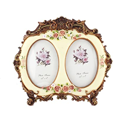 Amazon.com - 3.5x5 Inches 2 Oval Openings Victorian Flower Family ...