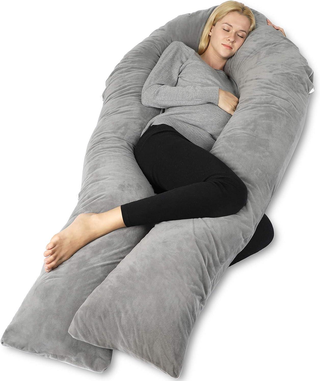 Amazon.com: QUEEN ROSE 65in Pregnancy Body Pillow, U Shaped