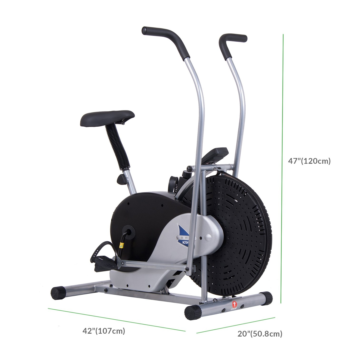 Body Rider Exercise Upright Fan Bike (with UPDATED Softer Seat) Stationary Fitness/Adjustable Seat BRF700 by Body Rider (Image #3)