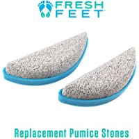 Fresh Feet- 2 Pumice Stone Replacements- Foot Scrubber with Pumice Stone, Cleans, Smooths, Exfoliates & Massages your Feet Without Bending in the Shower or Bathtub