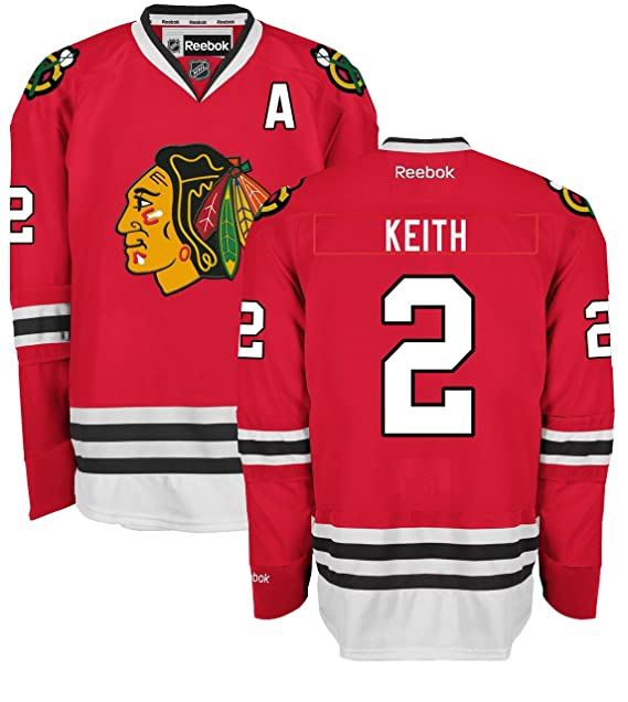 f074fb488 Amazon.com : Duncan Keith Chicago Blackhawks Home Red Premier Jersey by  Reebok : Sports & Outdoors