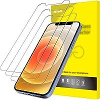 JETech Protector de Pantalla Compatible con iPhone 12/12 Pro 6,1 Pulgadas, Vidrio Templado, 3 Unidades