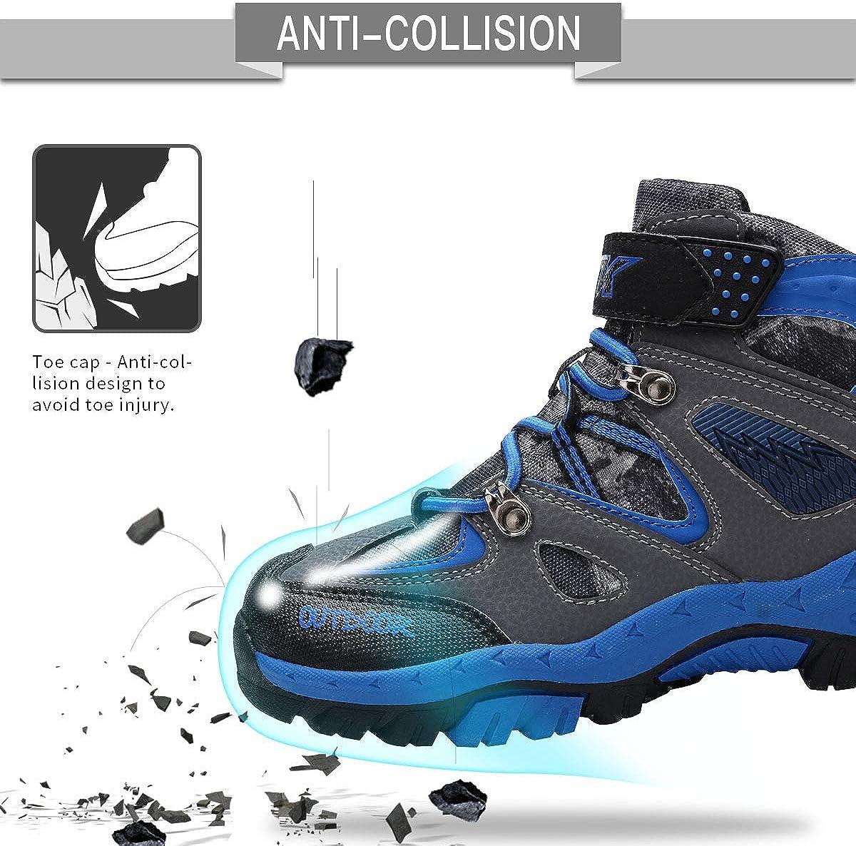 Laferter Enfant Bottes de Neige Gar/çon Filles Hiver Chaussures Souple Coton Antid/érapantes Bottines Chaudes 25EU-36EU