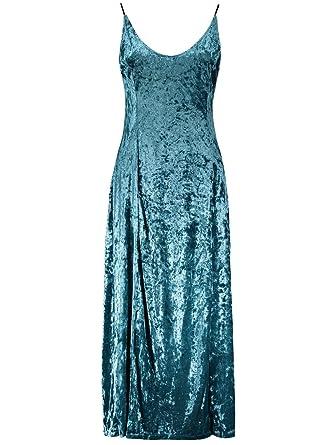 Velvet Gown Prom Dresses Spaghetti Strap Vintage Dresses Vestidos (S)