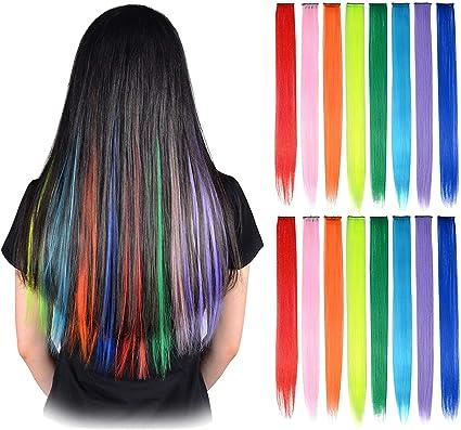 Extensiones de pelo rectas con clip para niños de 50,8 cm de ...