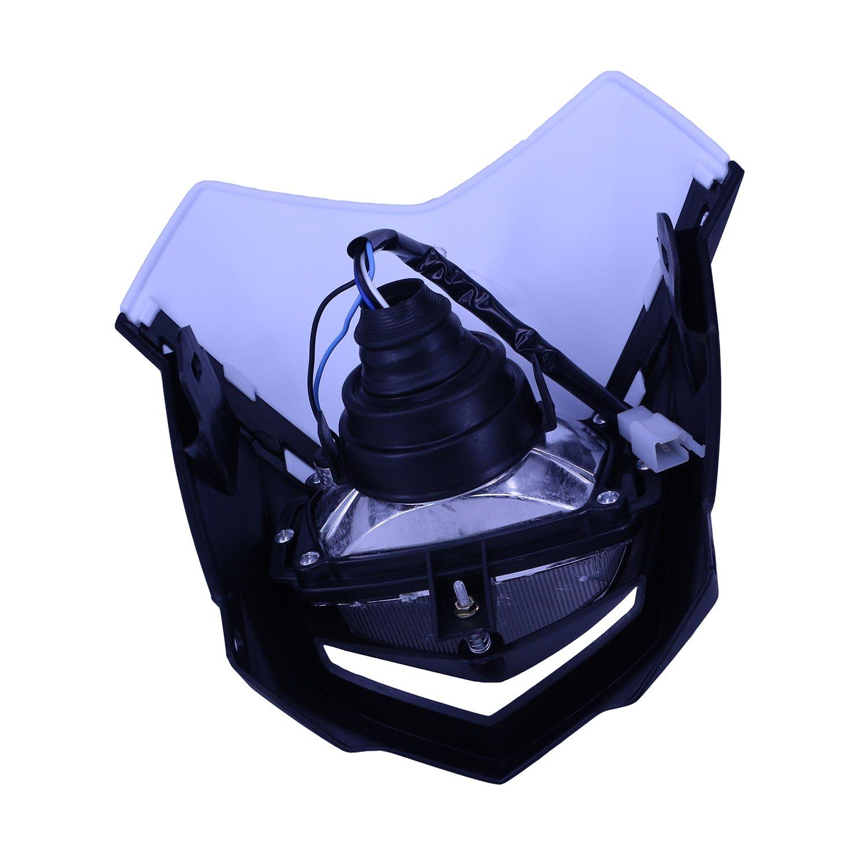 Universel Phare avant lampe frontale Streetfight pour CR YZ RM KX KTM DR Husaberg Husky gas gas CRF YZF Wrf KXF KLX Rmz RMX Drz Noir