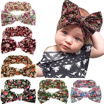 f01325302 TININNA bebé niñas Cute Floral Turbante Diadema Elástica con Nudos de Arcos  de Lazo para el Pelo pañuelo para la Cabeza Pelo Banda  Amazon.es  Hogar