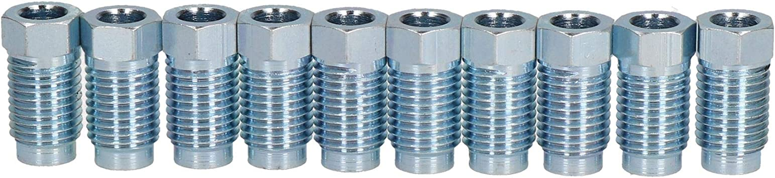 "AB Tools-Bond Steel Male Brake Pipe Union Fittings 7//16 x 20 UNF for 3//16/"" Brake Pipe 10pc"