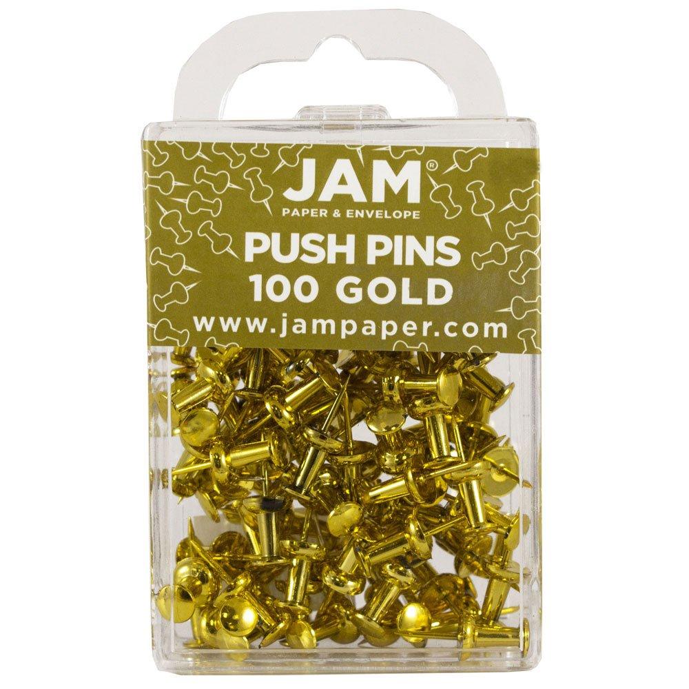 JAM Paper® Puntina di Disegno - Puntina Bianca - 100/pacco JAM Paper & Envelope