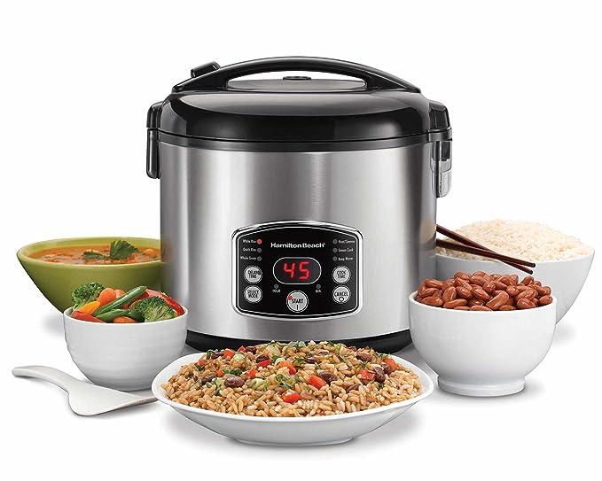 amazon com hamilton beach rice hot cereal cooker 7 cups uncooked rh amazon com Hamilton Beach Rice Cooker Manual 37548 hamilton beach rice cooker manual 37536
