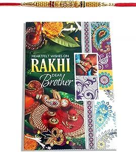 Diamond Rakhi - Tarjeta de felicitación para hermano con