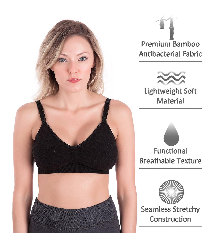 248c4a81f1667 Homma Maternity Removable Pad Wireless Seamless Comfort Nursing Bra at  Amazon Women s Clothing store