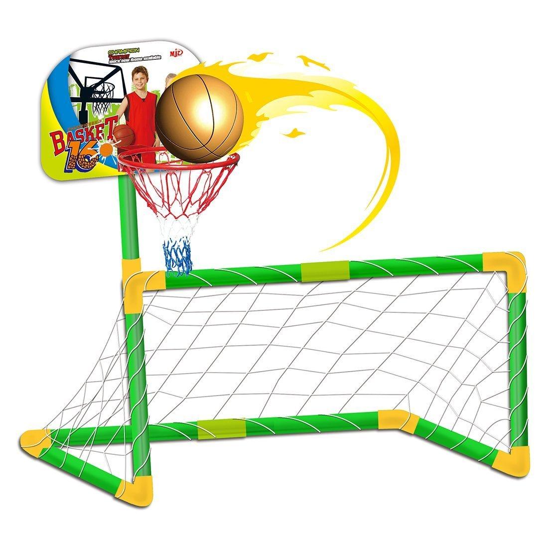 deAO - Juego de Soporte de Baloncesto y fútbol, 2 en 1, Juego ...