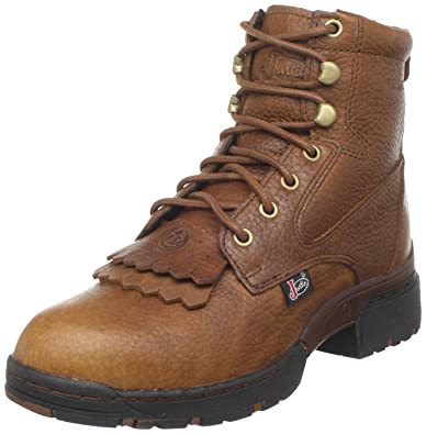 """091e37fef Justin Boots Women's George Strait Series 6"""" Waterproof Lace-Up Boot  Low Profile Round"""