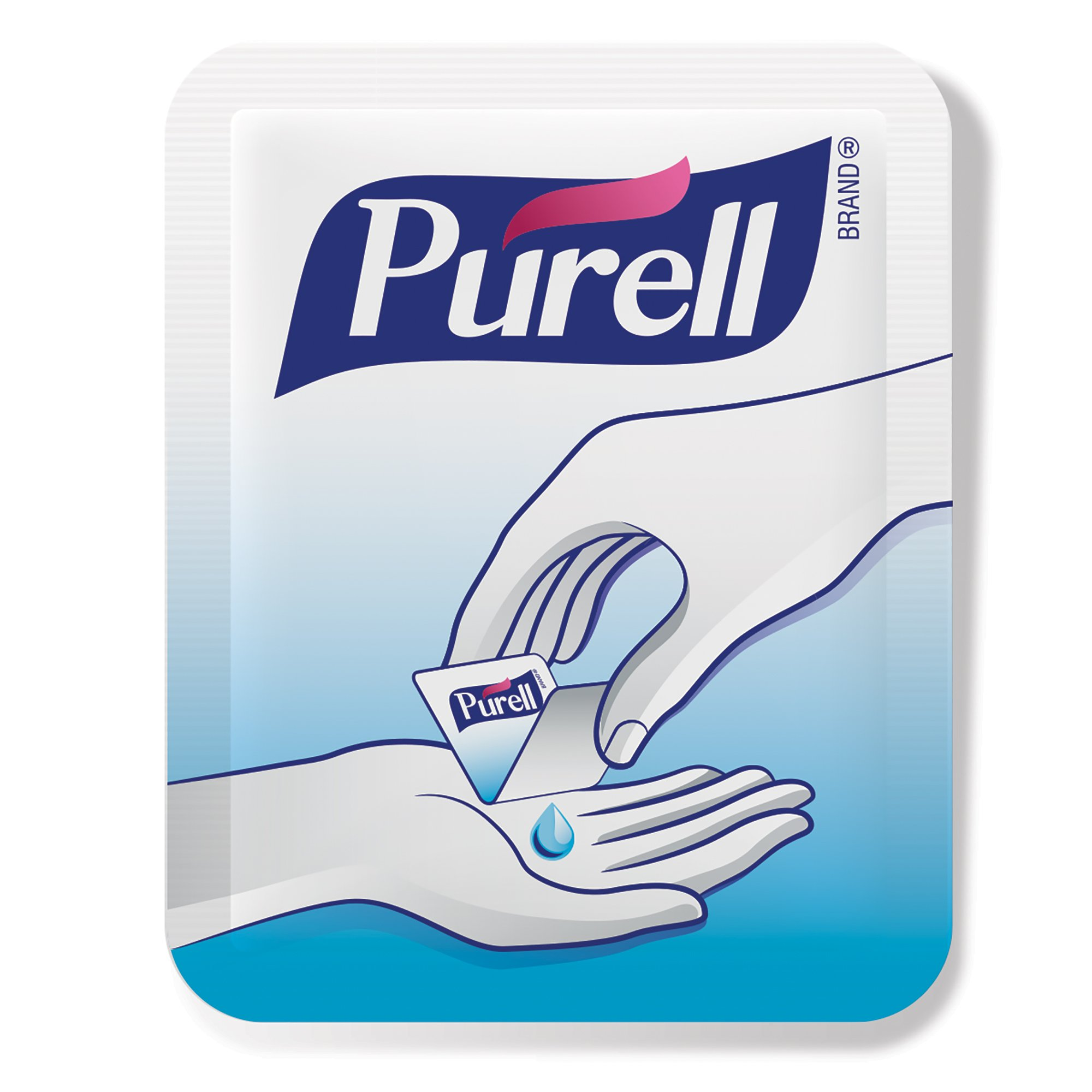 PURELL Advanced Hand Sanitizer Singles - Travel Size Single Use Individual Portable Packets, 125 count Self Dispensing Packets in a Display Box - 9620-12-125EC by Purell (Image #1)