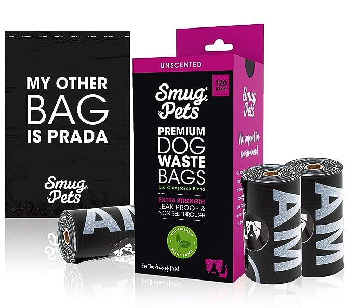 SmugPets - 120 Bolsas biodegradables para excrementos ...