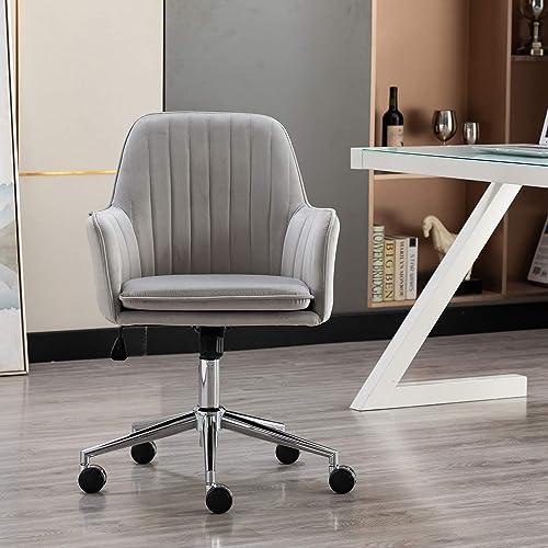 Artechworks Modern Home Office Chair Velvet Desk Chair