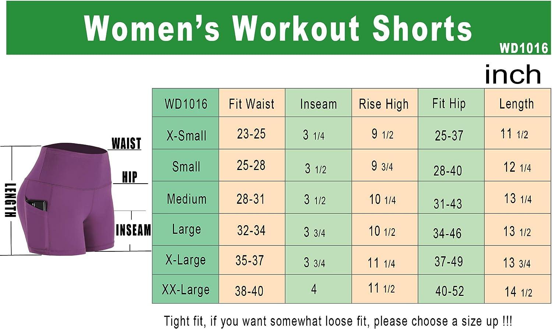 Cadmus Womens High Waist Dry Fit Athletic Bike Short Pockets