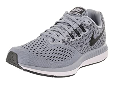 pretty nice f977e f2d73 ... wholesale nike mens air zoom winflo 4 running shoe glacier grey black  size 8 20ac3 0d54c