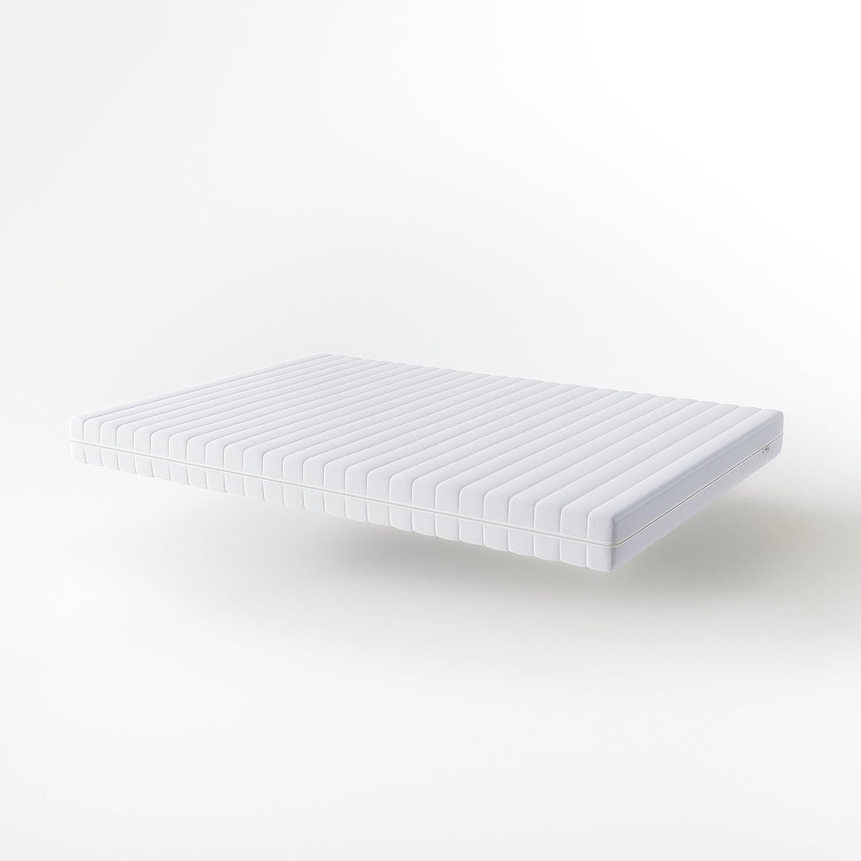 Hilding Sweden Sweden Sweden Essentials Schaumstoffmatratze in Weiß   Mittelfeste Matratze mit orthopädischem 7-Zonen-Schnitt für alle Schlaftypen (H2-H3)   200 x 180 x 16 cm 4d0270