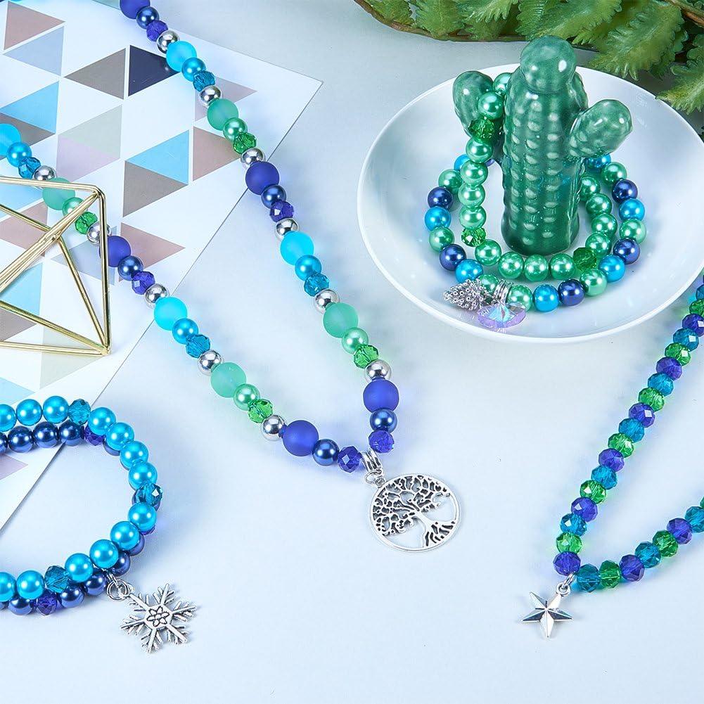 Febelle Perline sfuse di malachite blu naturale per gioielli fai da te e artigianato