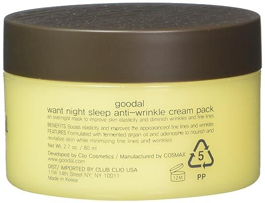 Goodal Want Night Sleep Anti-Wrinkle Cream Pack, 2 7 Fluid Ounce