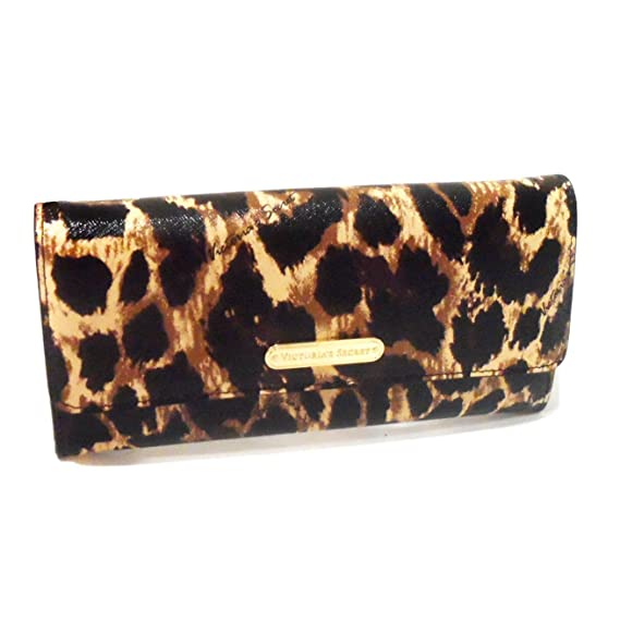 Victorias Secret - Cartera para mujer Gold/Animal Print ...