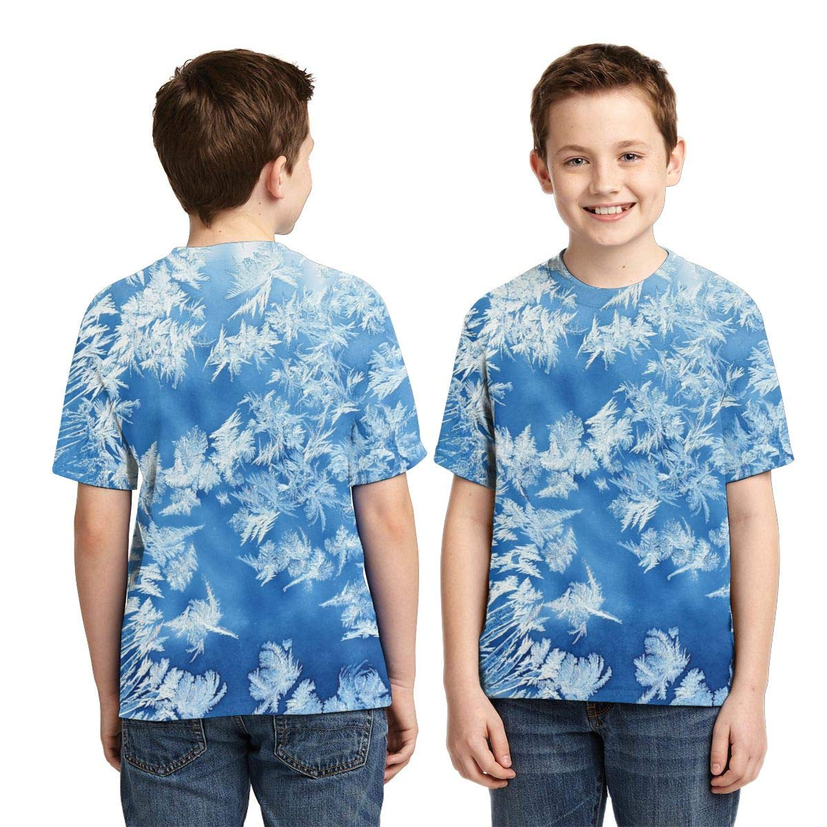 AMODECO Ice 3D Printed Tee T-Shirt for Youth Teenager Boys Girls