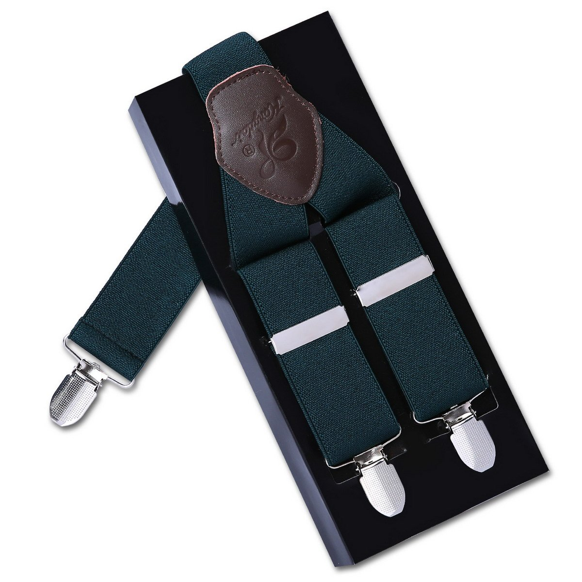 Mens Braces Adjustable and Elastic Suspenders with a 3 Clips