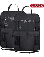 "WildAuto Car Back Seat Organizer,Washable Multi Purpose Kick Mats Car Seat Back Protector,Multi-Pocket Storage for Toy/Bottles/Umbrella/10"" iPad"