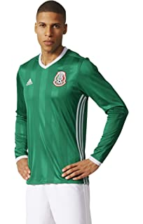 108d2c615f8 Adidas Mexico 2016 Long Sleeve Home Green Red White Jersey