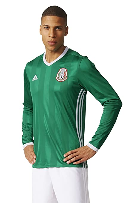 f51364694 Image Unavailable. Image not available for. Color  adidas MEXICO NATIONAL  SOCCER TEAM 2016 COPA AMERICA MEN S HOME LONG SLEEVE JERSEY ...