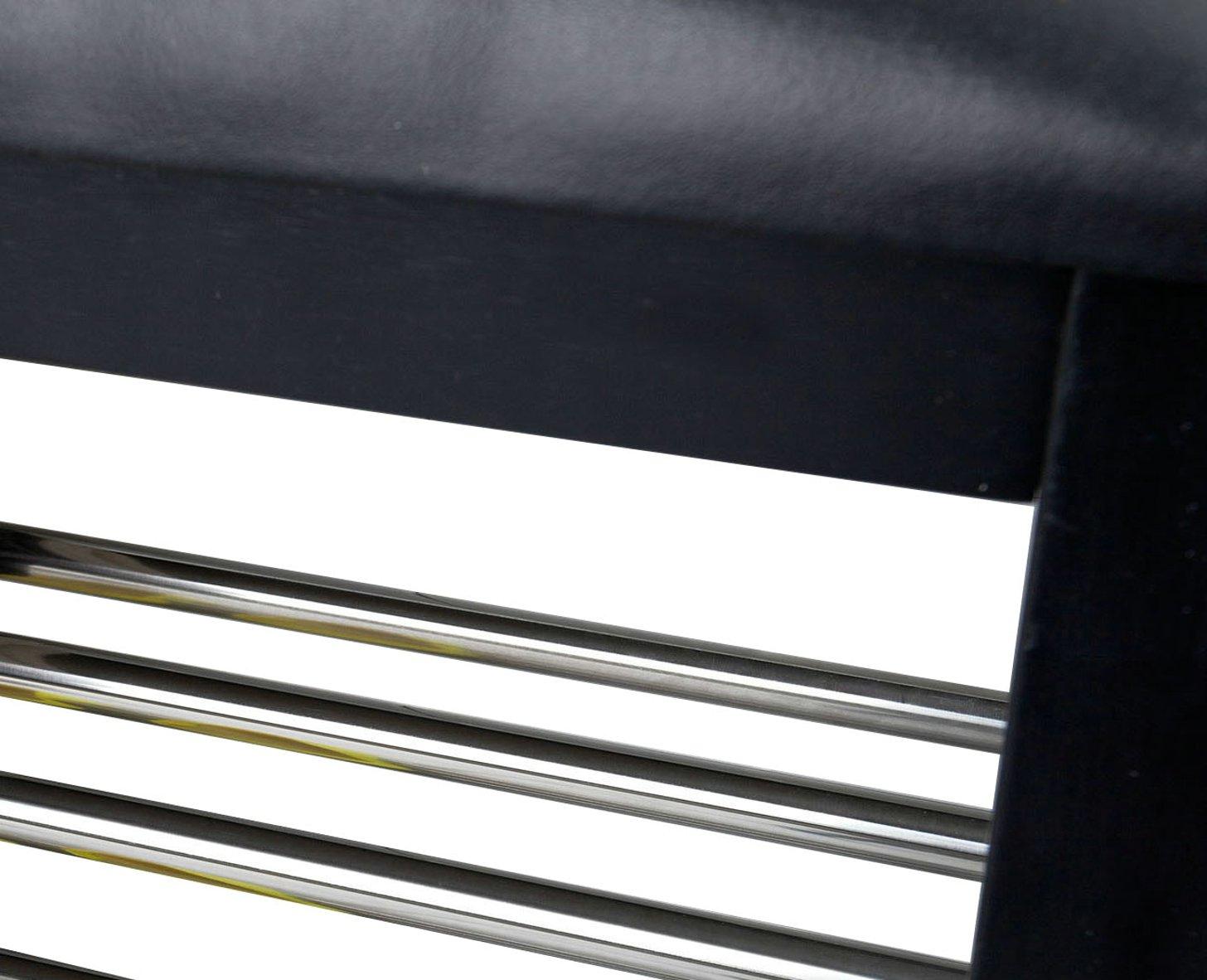 Nero Orolay Scarpiera con Cuscino Panchina Ingresso Portascarpe