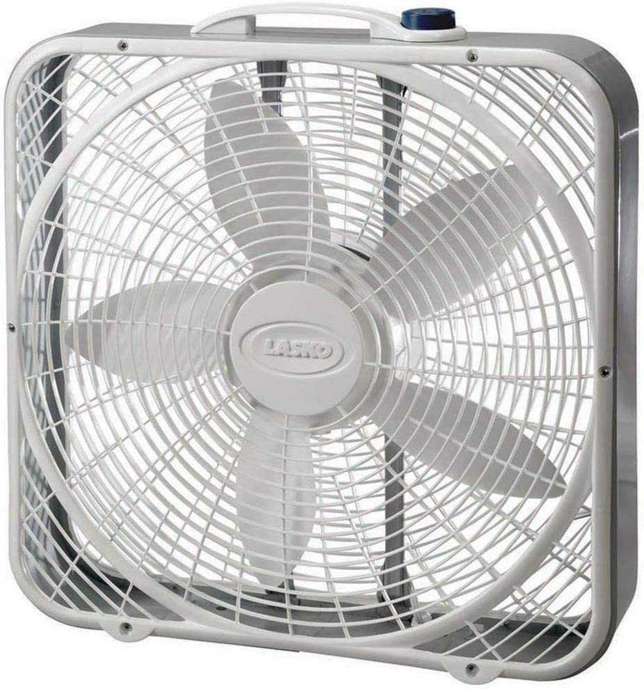 Amazon Com Lasko 3733 Box Fan 3 Speed 20 Inch White Home Kitchen
