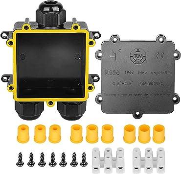 Cajas de empalmes, Stageek IP68 a prueba de agua Conector de cable ...