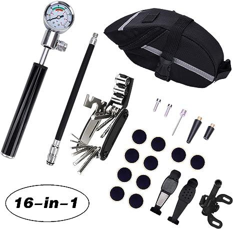 AUVSTAR 16 en 1 Multifunción para Bicicletas, Kit de Herramientas ...