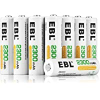 EBL AA Rechargeable Battery 16 Pack High Capacity 2300mAh Ni-MH Rechargeable AA Ni-MH Batteries
