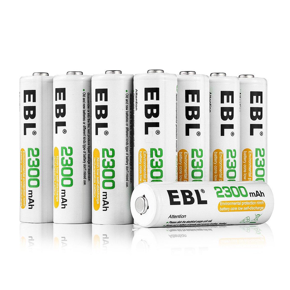 Wiederaufladbare AA Batterien