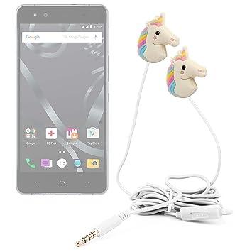 DURAGADGET Auriculares estéreo con diseño de unicornio arcoiris para smartphone BQ Aquaris X5 Cyanogen edition,