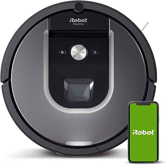 iRobot Roomba 960 Robot Aspirador, Succión 5 Veces Superior, Cepillos de Goma Antienredos, Sensores Dirt Detect, Wifi, Programable por App, compatible Alexa, Gris, 70 dB: Amazon.es: Hogar