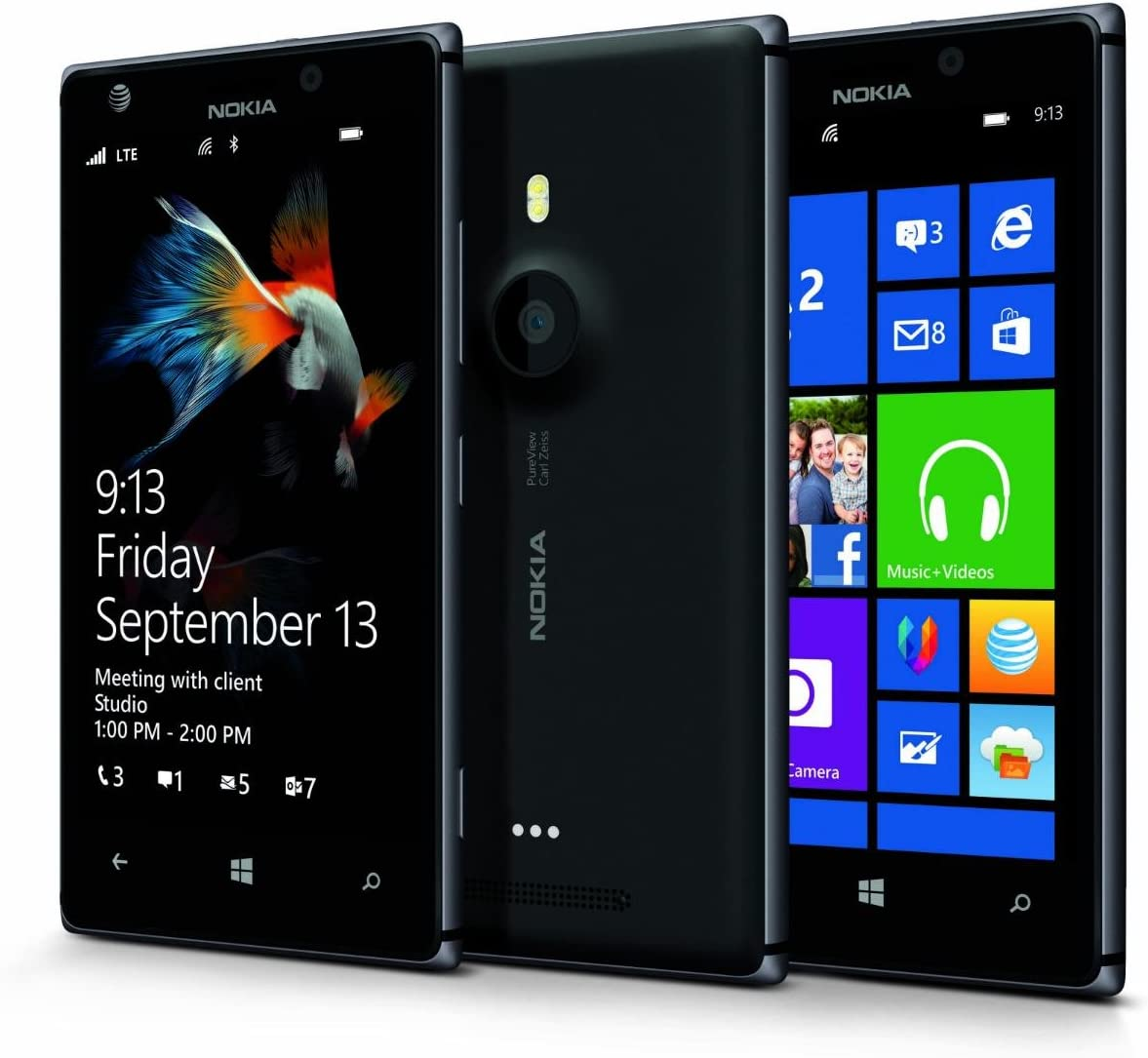 Amazon Com Nokia Lumia 925 Rm 893 At T Gsm 4g Lte Windows 8 Smartphone Black Dark Grey No Contract