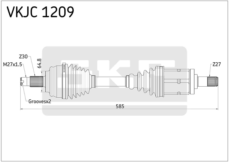 SKF VKJC 1209 Antriebswelle