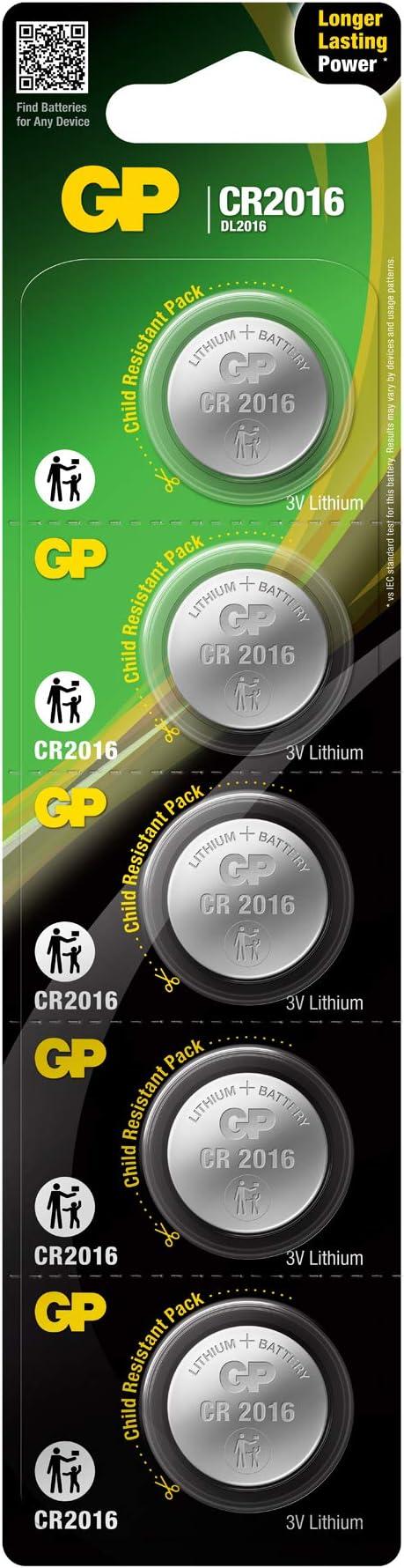 Gp Battery Lithium Knopfzelle Cr2016 5er Blister Elektronik