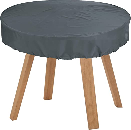 KaufPirat Premium Fundas para Mesa Redonda Ø 160x15 cm Cubierta Impermeable Funda para Mesa para Mobiliario de Exterior, Oxford Fundas para Proteger Muebles de Jardín Antracita: Amazon.es: Jardín